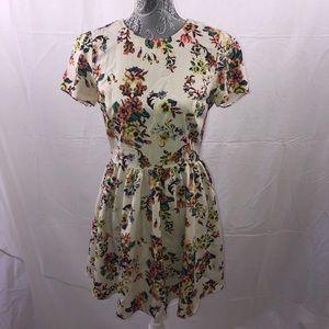 Topshop floral pixel dress sz 6